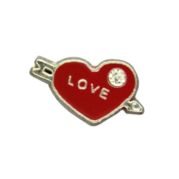 Herz Love mit Kristallstein
