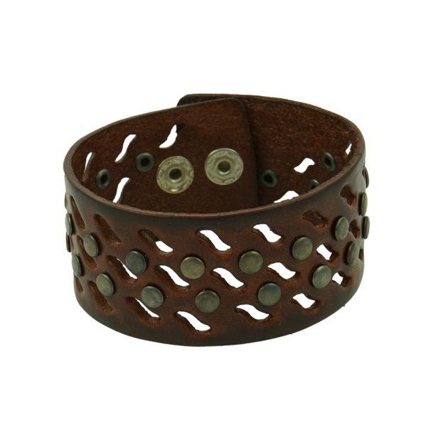 Armband Curved - Braun